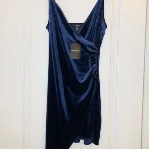 Blue Velour Dress